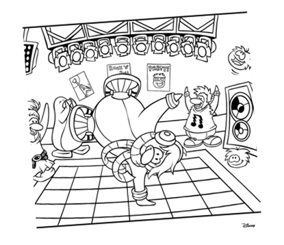 cadence club penguin coloring pages - photo#38